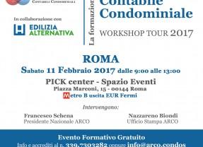 Romana Condomini presenta: Roma 11 Febbraio 2017 – Workshop – La formazione del revisore contabile condominiale